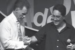 Apóstolo Jorge Tadeu e Charles Nieman em um Seminário para Homens de Negócios